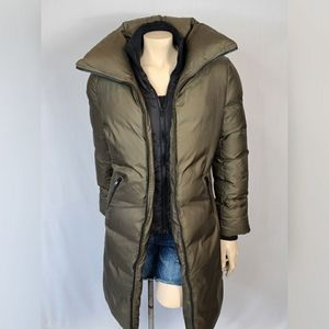 Soia & Kyo Olive Green Long Coat SZ L